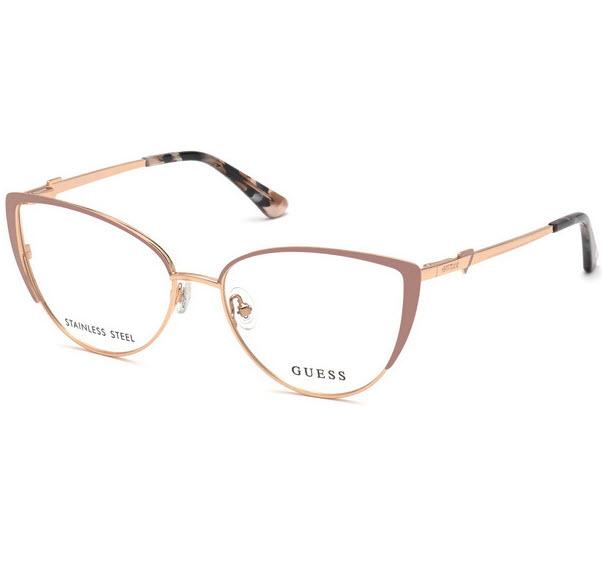 Pre-order : Guess กรอบแว่น ทรง Cat Eyes - สีเบจ
