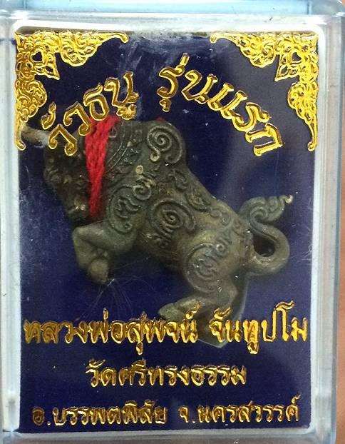 วัวธนู เนื้อนวะ เชือกแดง หลวงพ่อสุพจน์ วัดศรีทรงธรรม 2556
