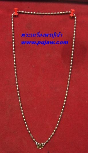 สร้อยแสตนเลส ห้อยพระ ความยาวรอบ 24 นิ้ว stanless neckless อุปกรณ์2