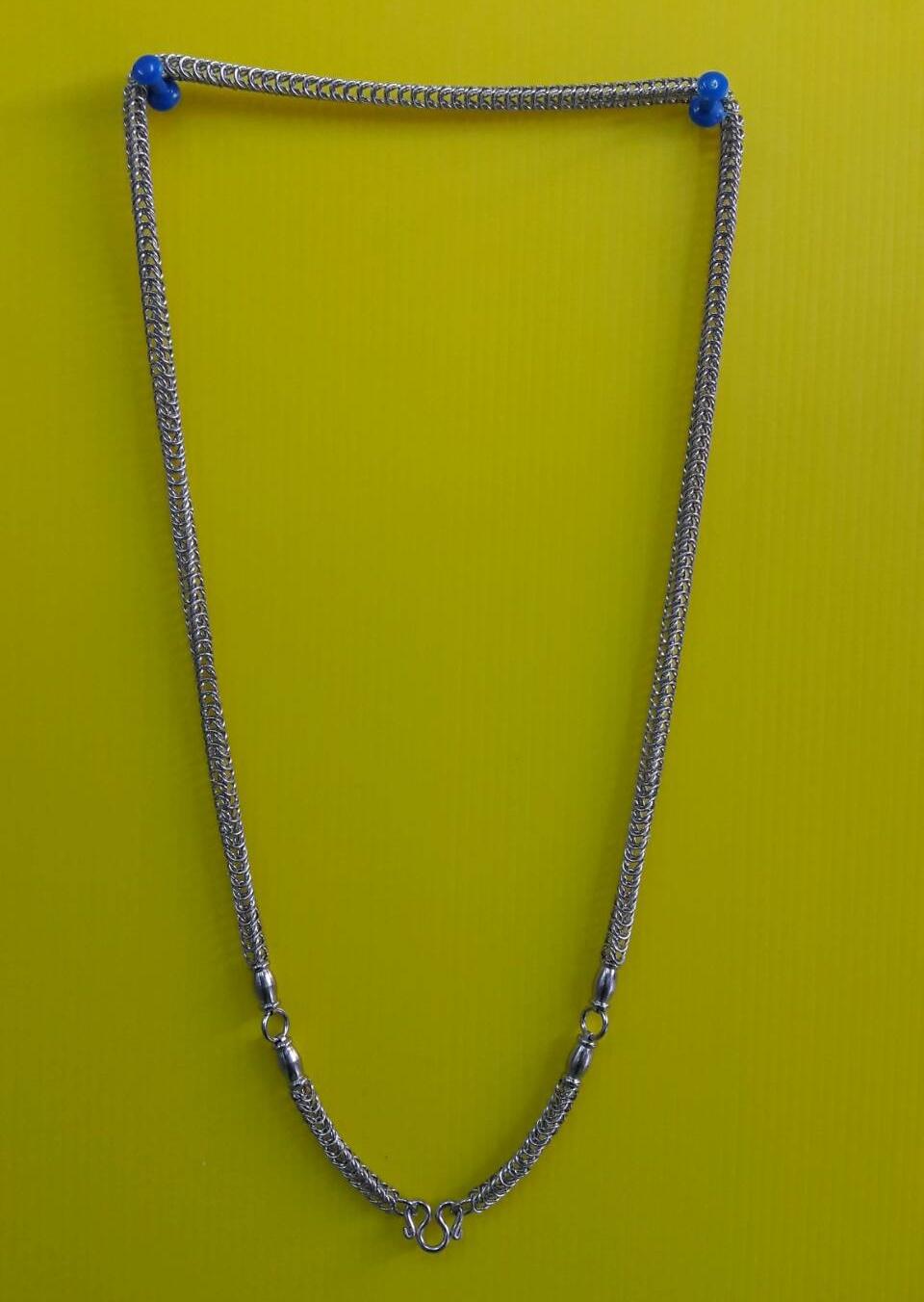 สร้อยแสตนเลส ห้อยพระ 3 องค์ ความยาวรอบ 28 นิ้ว stanless neckless อุปกรณ์
