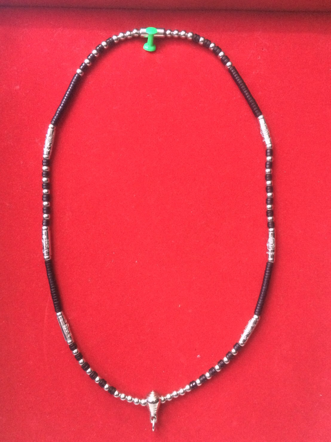 สร้อยกะลา+แสตนเลส ห้อยพระ 1 องค์  ความยาวรอบ 22 นิ้ว stanless+coconut neckless อุปกรณ์