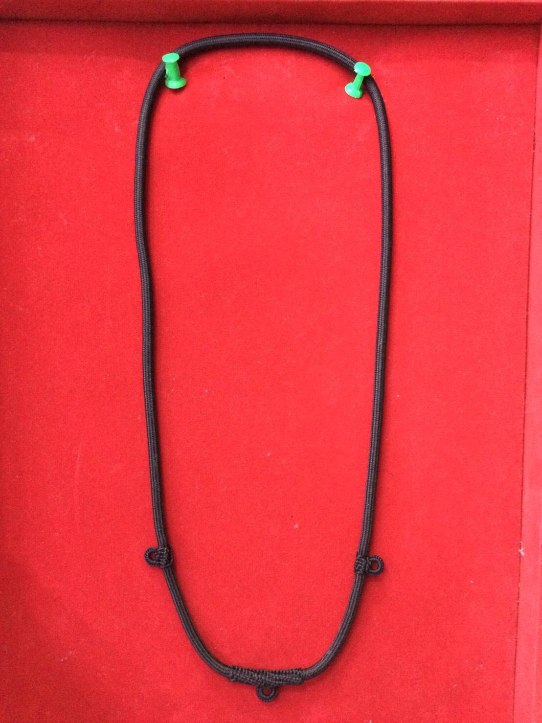 สร้อยเชือกไนล่อน เส้นใหญ่ ห้อยพระ 3 องค์ ความยาวรอบ 26 นิ้ว Nylon rope neckless อุปกรณ์
