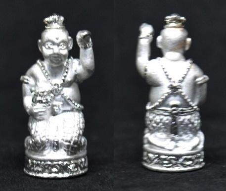 กุมารทอง เนื้อสัมฤทธิ์ชุบเงิน  รุ่นเพิ่มทรัพย์เพิ่มสุข หลวงปู่หงษ์ วัดเพชรบุรี 2553