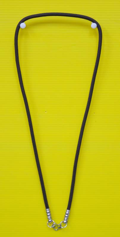 สร้อยเชือกไนล่อน ผสมเม็ดแร่ ห้อยพระ 1 องค์  Nylon rope neckless อุปกรณ์ ยาว 24 นิ้ว