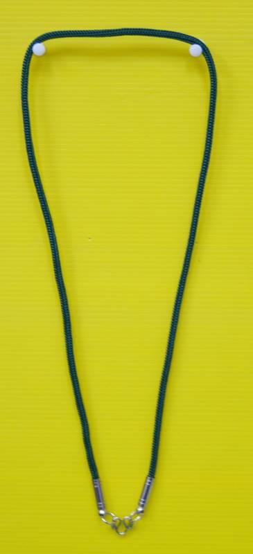 สร้อยเชือกไนล่อน ผสมเม็ดแร่ ห้อยพระ 1 องค์  Nylon rope neckless อุปกรณ์ ยาว 24 นิ้ว 1