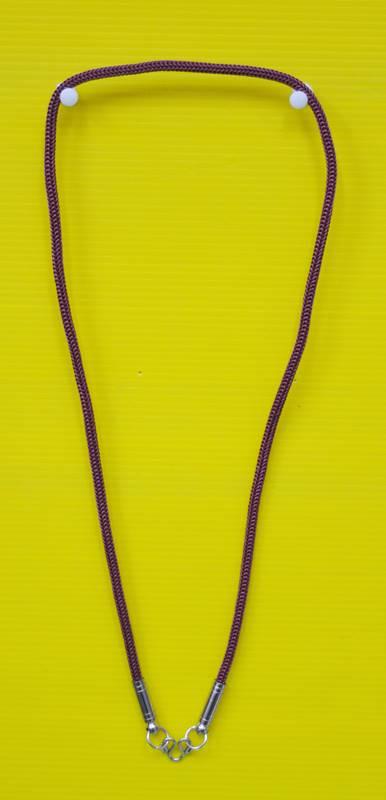 สร้อยเชือกไนล่อน ผสมเม็ดแร่ ห้อยพระ 1 องค์  Nylon rope neckless อุปกรณ์ ยาว 24 นิ้ว 2