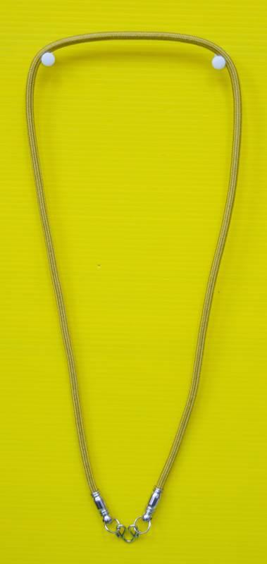 สร้อยเชือกไนล่อน ผสมเม็ดแร่ ห้อยพระ 1 องค์  Nylon rope neckless อุปกรณ์ ยาว 24 นิ้ว 3