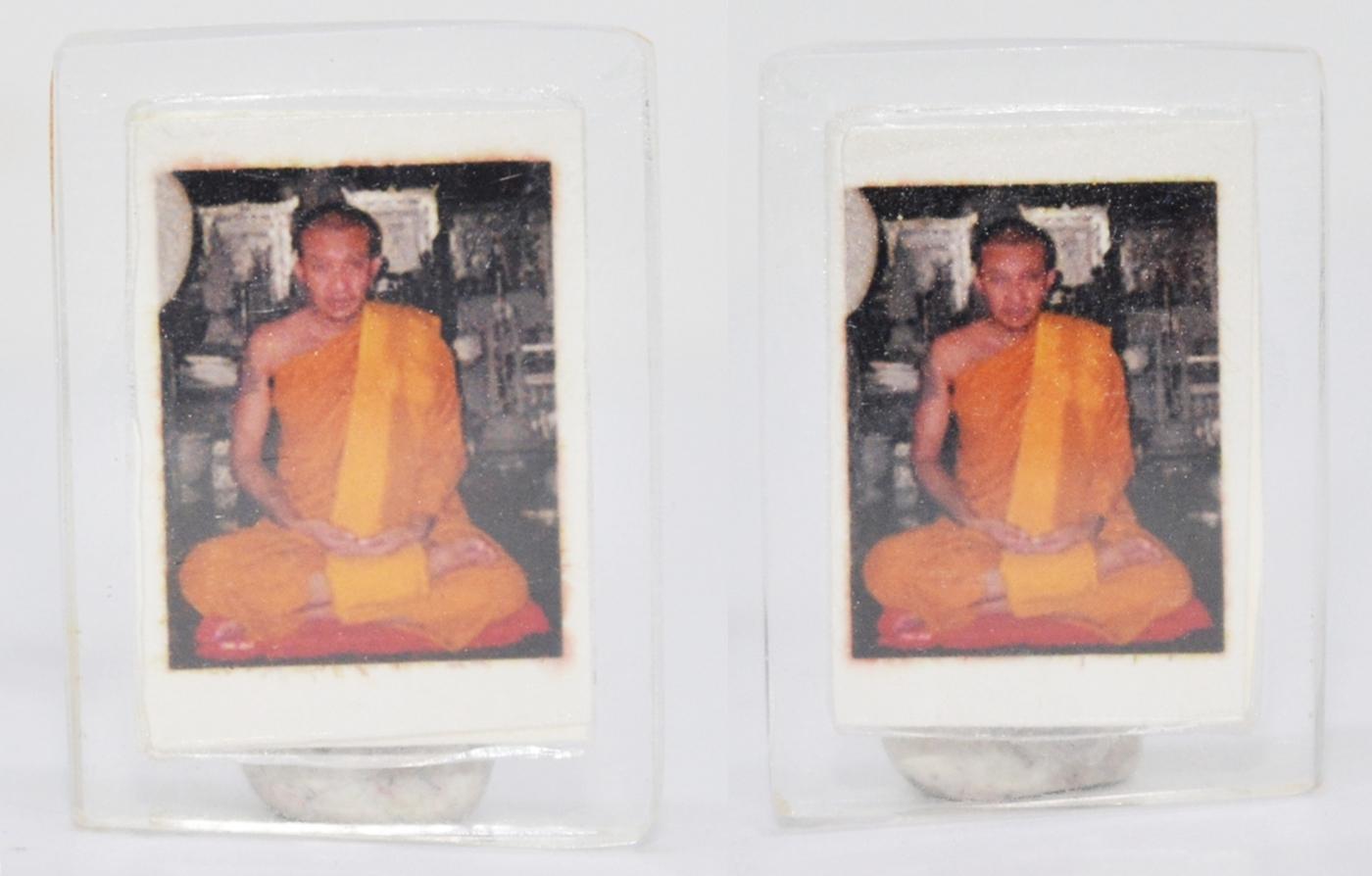รูปจิ๋ว ห้อยคอ หลวงพ่อชำนาญ วัดบางกุฎีทอง ปทุมธานี