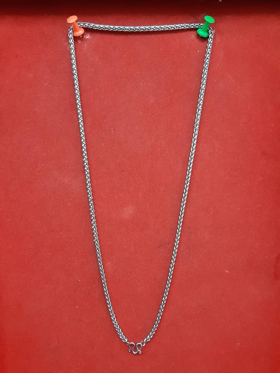 สร้อย ห้อยพระ 1 องค์ ความยาวรอบ 23 นิ้ว stanless neckless อุปกรณ์