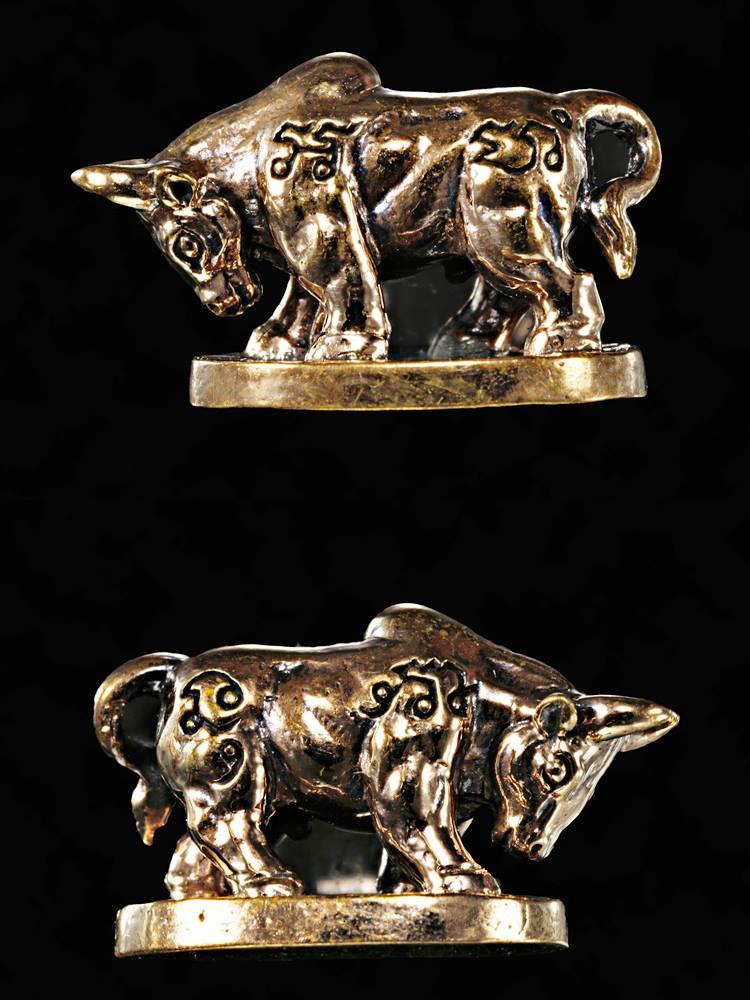 วัวธนูมหาลาภ โคอุสุภราช เนื้อทองแดงขัดเงา รุ่นมหาโชครับทรัพย์ หลวงพ่อหวั่น วัดคลองคูณ 2562