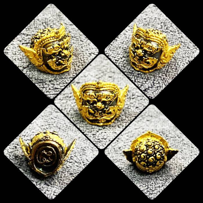 เศียรพระพิราพ เนื้อสัมฤทธิ์ปิดทอง รุ่นกำเนิดทรัพย์ พระอาจารย์ศุภสิทธิ์ วัดบางน้ำชน 2562