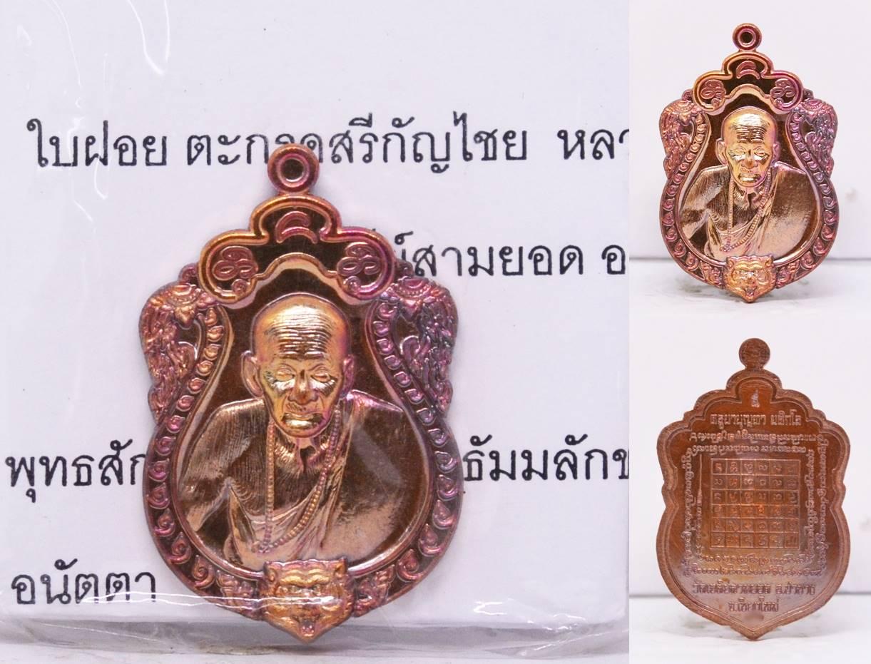 เหรียญเสมา เนื้อทองแดง ครูบาบุญทา วัดเจดีย์สามยอด 2556
