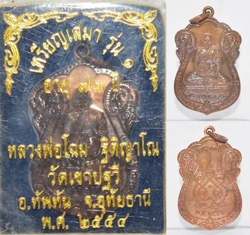 เหรียญเสมา รุ่น 1 เนื้อนวะ หลวงพ่อโฉม วัดเขาปฐวี 2554