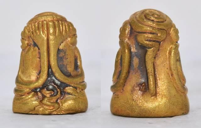 พระปิดตา เนื้อทองเหลือง หลวงพ่อชำนาญ วัดบางกุฎีทอง ปทุมธานี 2555 ขนาด 2.3*1.6 ซม