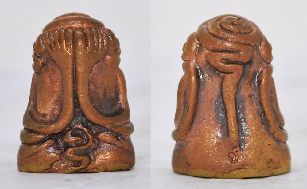 พระปิดตา เนื้อทองแดง หลวงพ่อชำนาญ วัดบางกุฎีทอง ปทุมธานี 2555 ขนาด 2.3*1.6 ซม