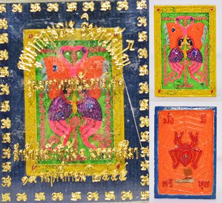 เทพจำแลงภมร  พิมพ์เล็ก เพ้นท์สี ครูบากฤษณะ สำนักสงฆ์เวฬุวัน นครราชสีมา 2555 3