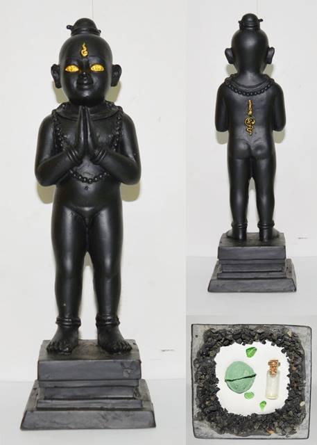 กุมารทอง สีดำ เนื้อแร่ อาจารย์สรรค์ คงเวทย์ 2558