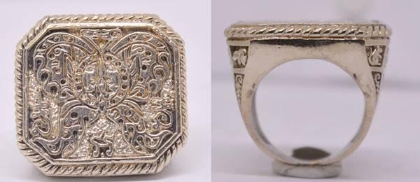 แหวนเทพจำแลงภมร เนื้ออัลปาก้า  ครูบากฤษณะ สำนักสงฆ์เวฬุวัน นครราชสีมา 2555