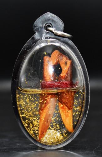 นกสาริกาลิ้นทองเรียกคู่ ไม้โศก เลี่ยมน้ำมันมหารัญจวน อาจารย์ปาน เจริญกรุง 2561