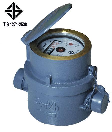 CJ-WM-001 มิเตอร์น้ำระบบลูกสูบ อาซาฮี 1/2นิ้ว