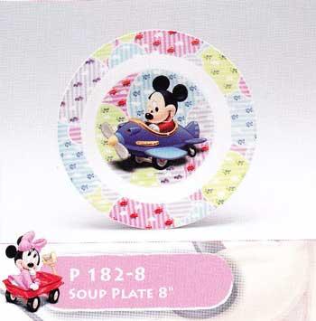 จานทรงลึก Disney Baby Toy P182-8