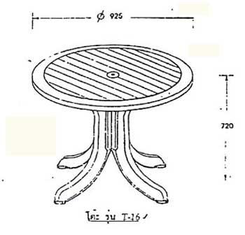 โต๊ะพลาสติก T16 1