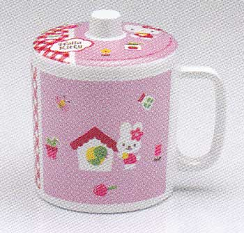 ชุดถ้วยหูพร้อมฝา Kitty Pinky  CL639-4