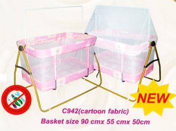 เปลเด็กพับ CRADLE C942 (Cartoon fabric)