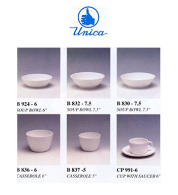ถ้วยชามเมลามีน ตรา Unica