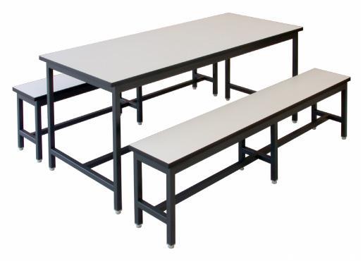 โต๊ะโรงอาหาร และ ม้านั่ง 6 ฟุต
