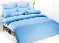 ผ้าปูที่นอน TOTO สีพื้นฟ้า 3.5\'