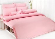 ผ้าปูที่นอน TOTO สีชมพู 3.5\'