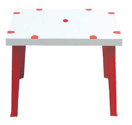 โต๊ะพลาสติกเหลี่ยมโดมิโน่ Domino