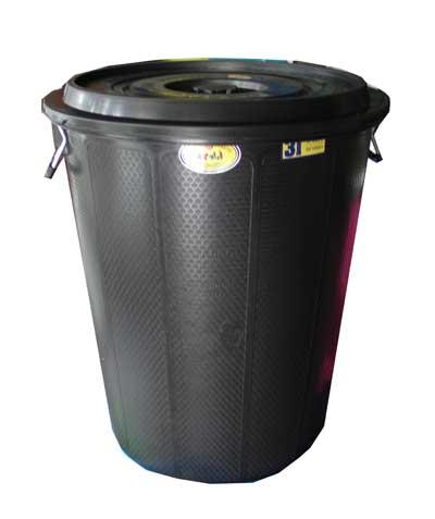 ถังน้ำพลาสติก Lion K1 31 กล.(สีดำ)