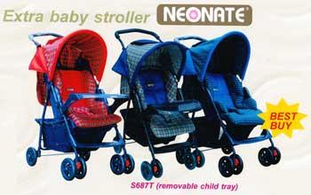 รถเข็นเด็ก มีถาดถอด Neonate S687T