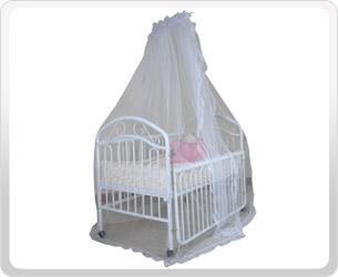 มุ้งคลุมเตียงเด็กพร้อมโครงเหล็ก Mosquitoes