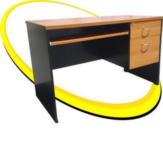โต๊ะทำงานบวกคอม 120  หน้า เมลามีน MD009