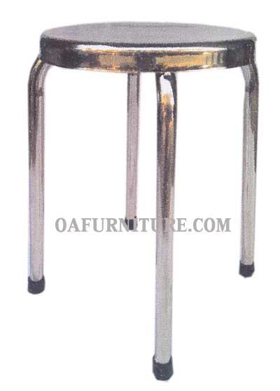 เก้าอี้สเตนเลสกลม SL1-A