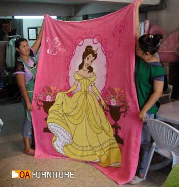ผ้าห่มขนหนู ลายลิขสิทธิ์ Princess