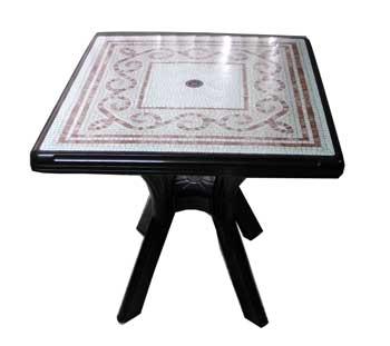 โต๊ะพลาสติกเหลี่ยม Daito Moka