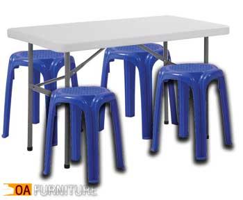 ชุดโต๊ะพับ FP120 พร้อมเก้าอี้ CH35