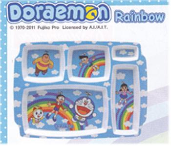 ชุดถ้วยชามลาย Doraemon Rainbow