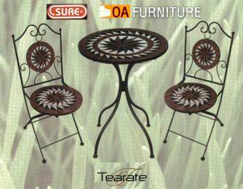 ชุดโต๊ะ-เก้าอี้โมเสค Tearate