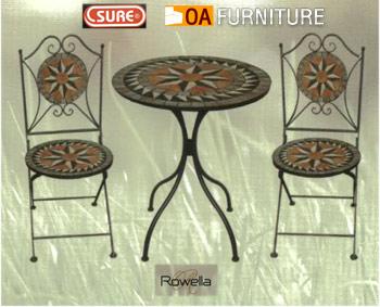 ชุดโต๊ะ-เก้าอี้โมเสค Rowella