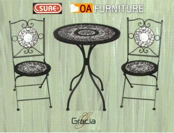 ชุดโต๊ะ-เก้าอี้โมเสค Gracia