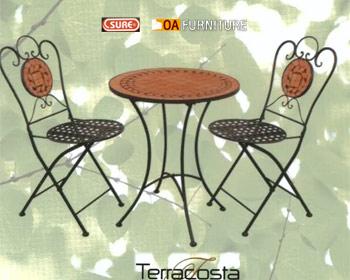 ชุดโต๊ะ-เก้าอี้โมเสค Terracosta