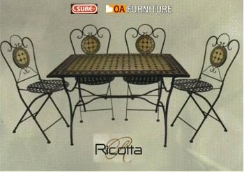 ชุดโต๊ะทรงเหลี่ยม-เก้าอี้โมเสค Ricotta