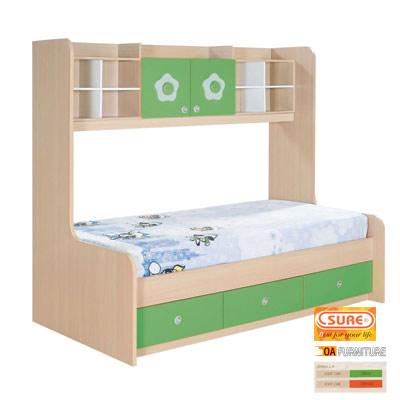 ชุดเตียงนอนเดี่ยว 3 ลิ้นชัก 2 บานเปิด XHB581