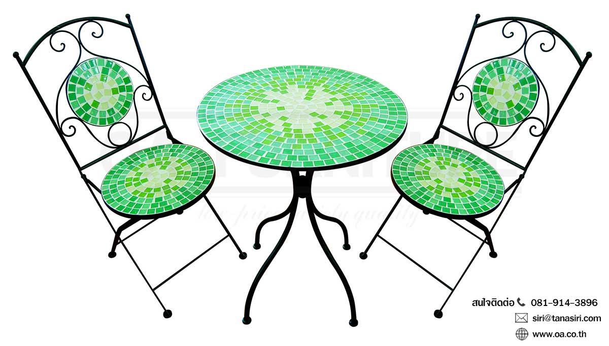 ชุดโต๊ะ-เก้าอี้กลาสเซร่า VERDENTIA