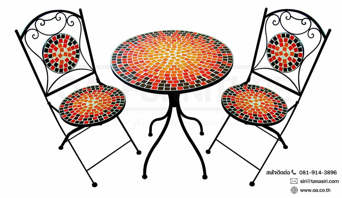 ชุดโต๊ะ-เก้าอี้กลาสเซร่า RED OF PARADISE